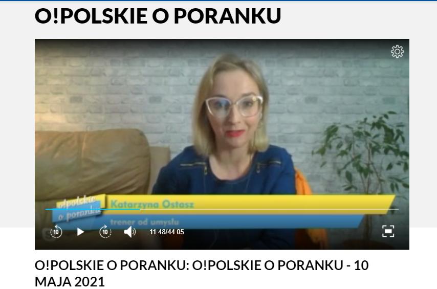 """W """"O!polskie o poranku"""" na temat technik relaksacyjnych"""